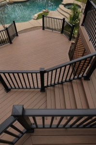 AZEK Morado Deck with AZEK railing