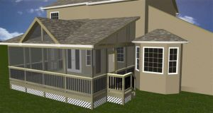 Screened porch design Overland Park KS
