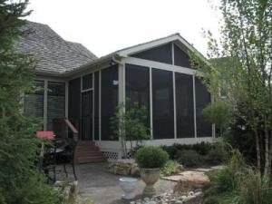 Screened porch with screened gable Kansas City