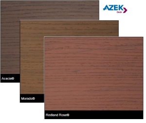 AZEK PVC Kansas City Acacia Morado and Redland Rose