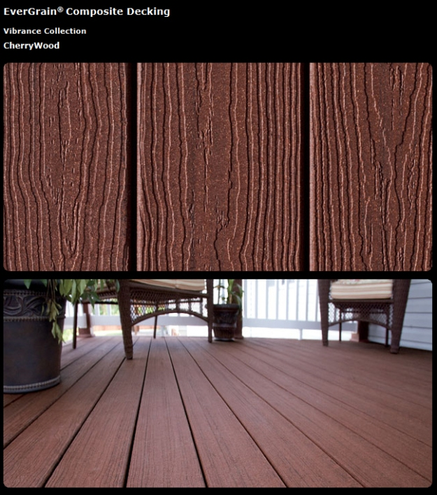 EverGrain cherry wood Kansas City Deck Builder