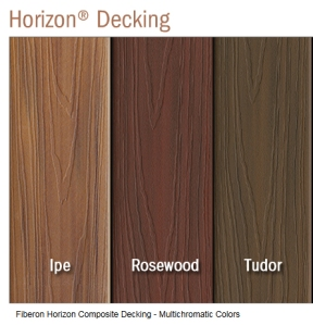 Fiberon Horizon Kansas City Composite colors Ipe Rosewood Tudor