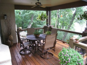 Kansas City cedar covered deck