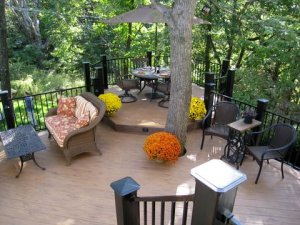 Kansas City large composite multi-level deck