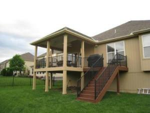 Lenexa KS open porch TimberTech