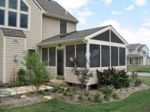 Kansas City Screened Porch with Screened Gable Roof and Sky Light