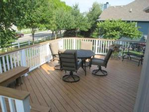 TimberTech Deck with White Low-Maintenance Composite Railing