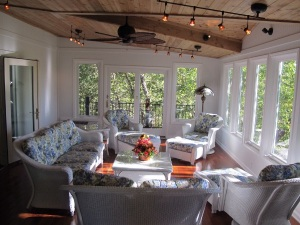Olathe KS sunroom with white painted walls