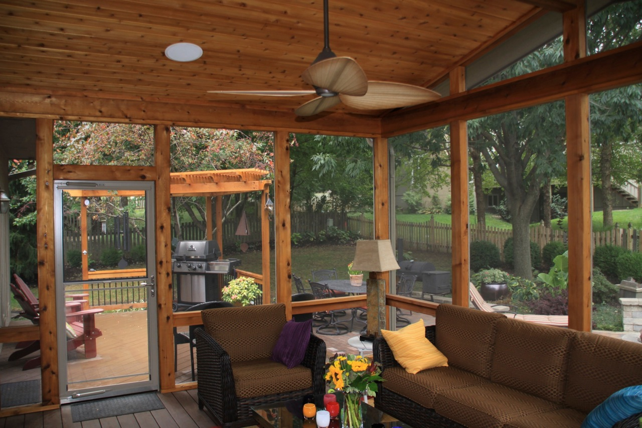 Custom screen porches archadeck of kansas city Screens for outdoor areas