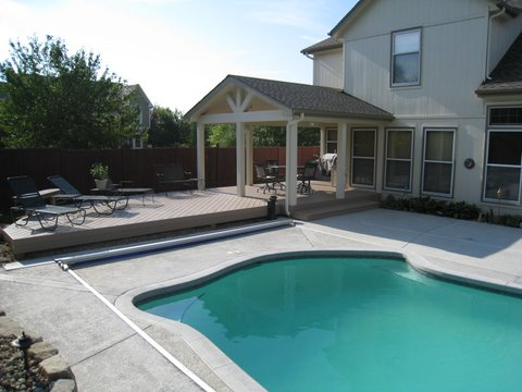AZEK Pool Deck With Open Porch And Bench Overland Park KS