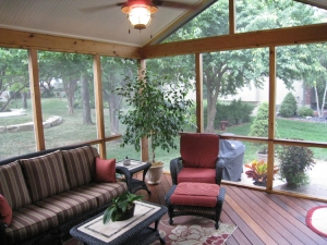 Ipe cedar screen porch Overland Park Archadeck