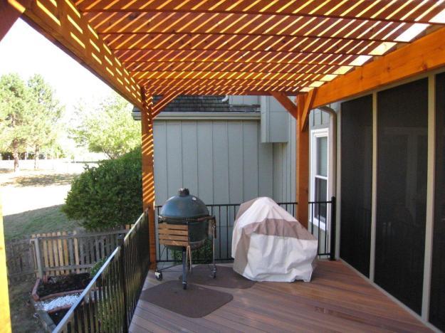 Cedar pergola Fiberon deck Lenexa KS by Archadeck