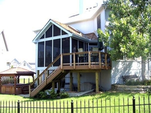 Composite Deck and Porch Combo in Overland Park KS