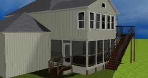 Archadeck Kansas City 2 story sunroom screen porch