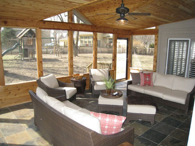 Interior Screened Porch : Screened porch interior designs in kansas city archadeck