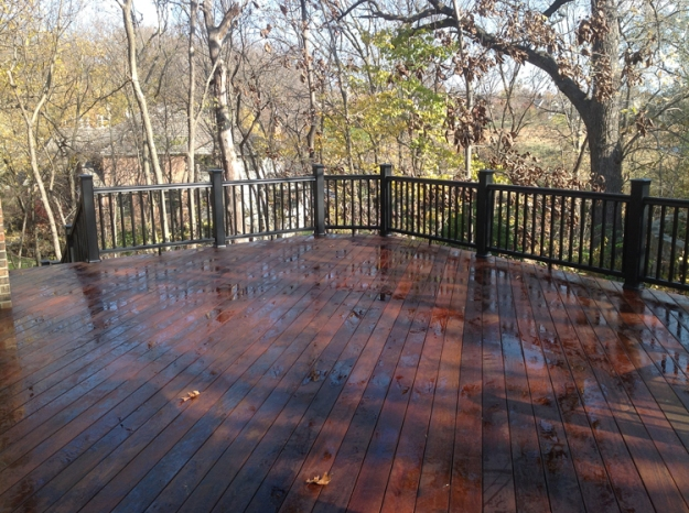 ipe deck Lenexa KS with sealer lr