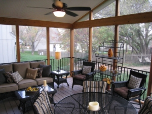 Lenexa KS screened porch AZEK floor