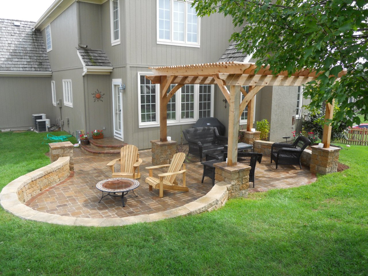 Paver patio hardscape | Archadeck of Kansas City on Backyard Patio  id=69793