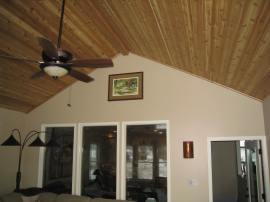 cedar vaulted ceiling Shawnee sunroom