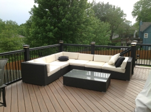 Kansas City TimberTech Pacific Walnut deck