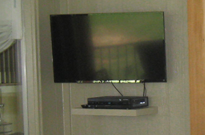 Lenexa KS TV mounted in porch