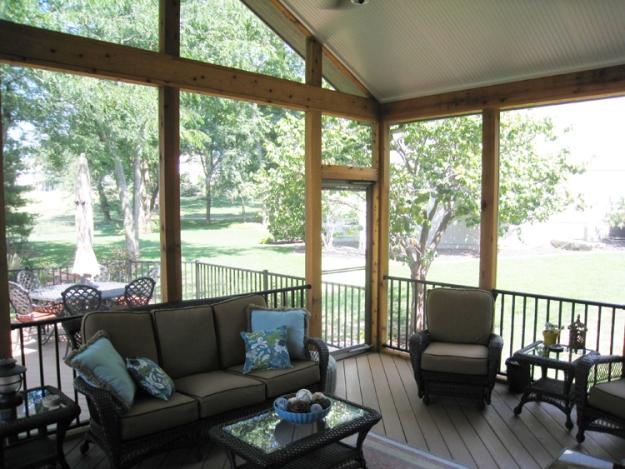 Lenexa screened porch and AZEK deck