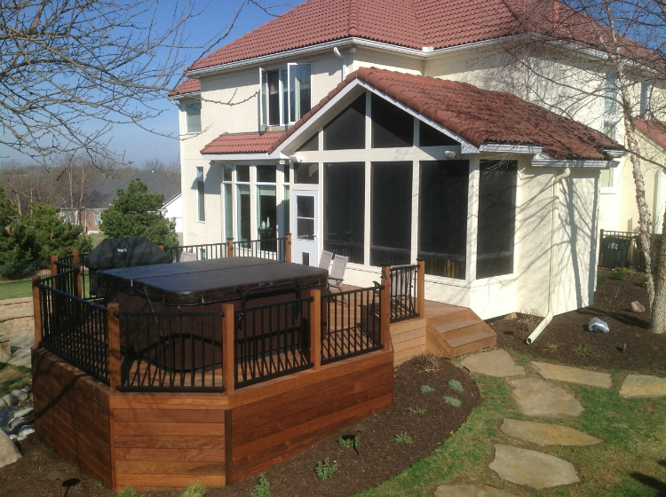 This Dream Outdoor Space In Shawnee Ks Includes A Porch
