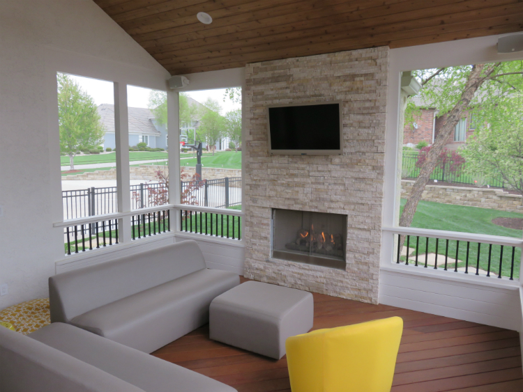 Porch Interior Design Archadeck Of Kansas City