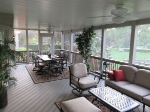 Composite floor Kansas City screened porch lr