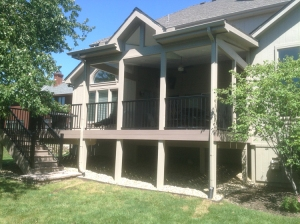 Open porch with deck Overland Park KS lr