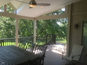 AZEK deck and flooring on Overland Park open porch lr