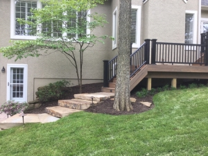 Leawood KS composite deck with lighting