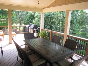 Man-made decking is also a great option for your porch