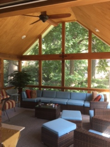Prarie Village KS screened porch