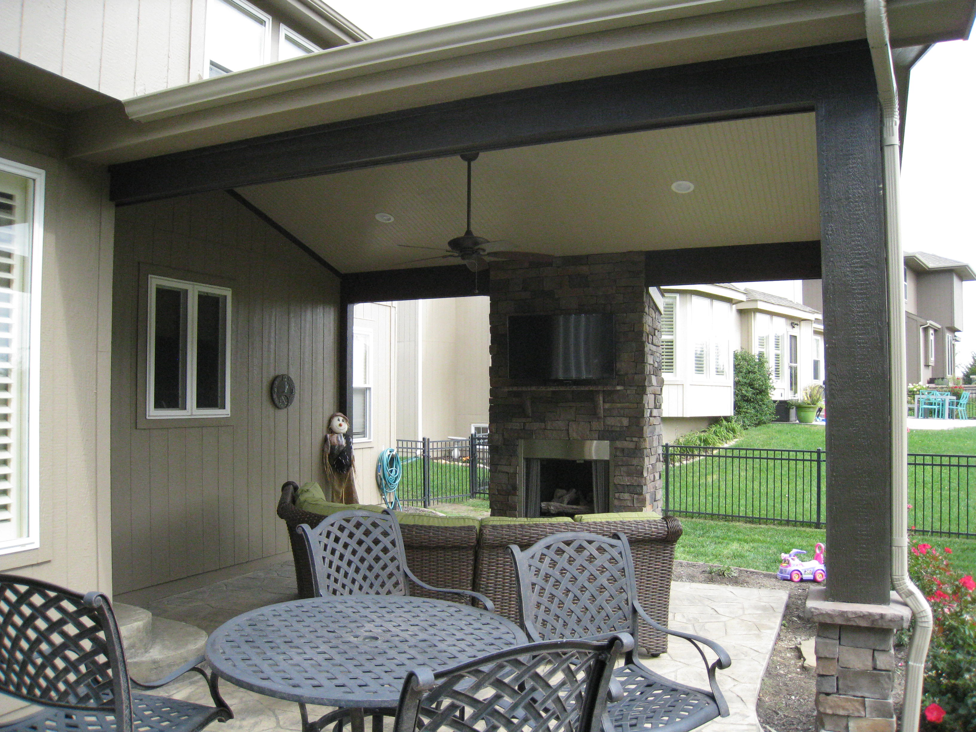 it to kits sale an fireplace fireplaces cost for much of how into outdoor integrate patio would my under covered