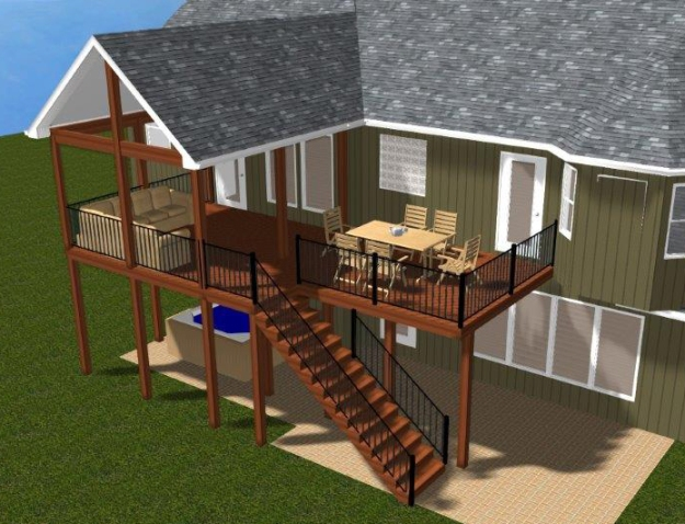 Design ideas for your kansas city area covered porch or for Adding a covered porch to a double wide