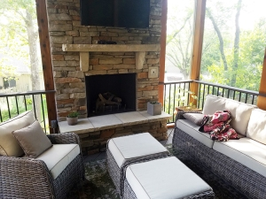 screen porch fireplace. You ll appreciate their attention to detail in the design and material  selections they made for new screened porch outdoor fireplace Archadeck of Kansas City builder deck